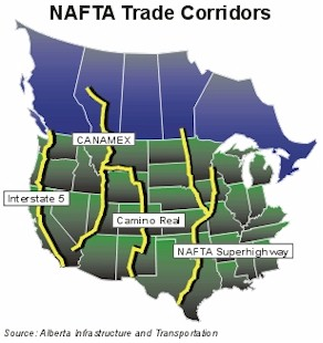 nafta superhighway map alberta canada