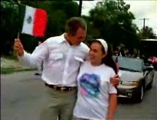 president george bush waving mexican flag video