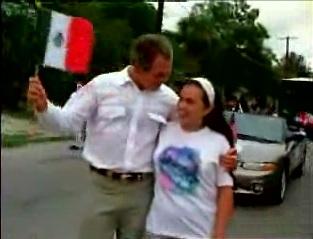 president george bush waving mexican flag video