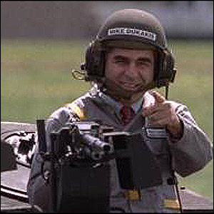 michael dukakis in his tank